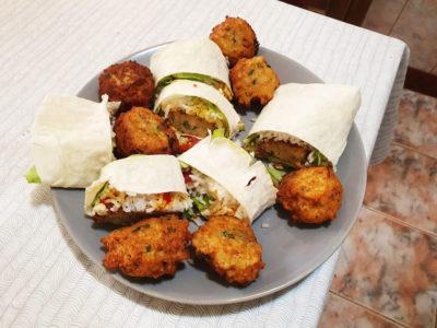 Falafel, rulou de falafel